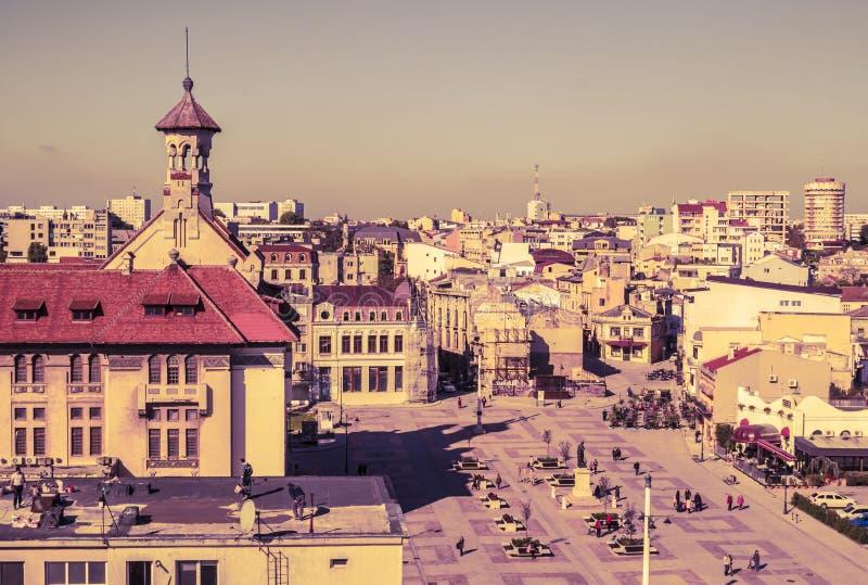 Luchtmening van oude stad van Constanta, Roemenië stock afbeelding