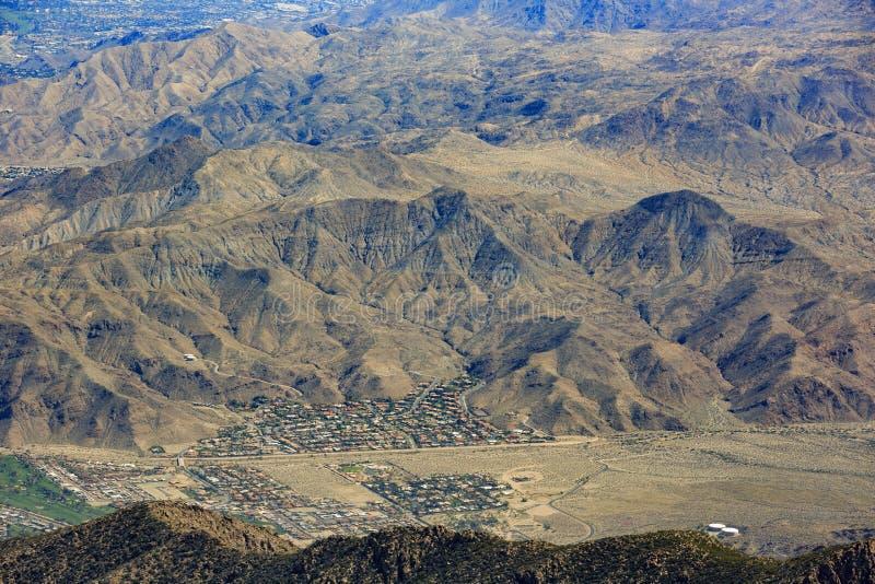 Luchtmening van Palm Springsstad stock afbeelding