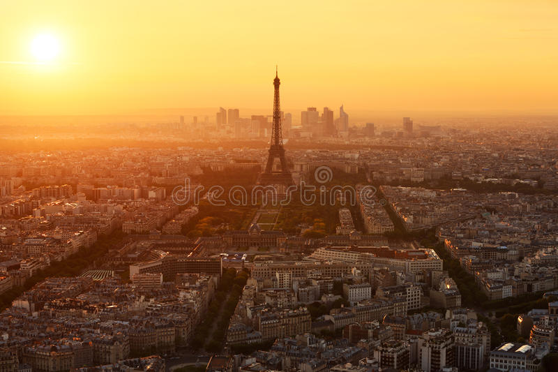 Luchtmening van Parijs (Frankrijk) stock afbeelding