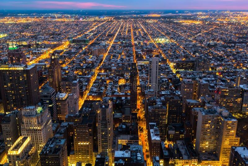 Luchtmening van Philadelphia met convergerende straten royalty-vrije stock afbeeldingen