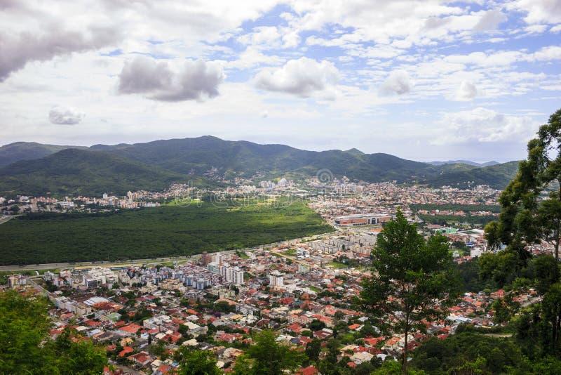 Luchtmening van polis-Sc Brazilië van Florianà ³ stock foto's