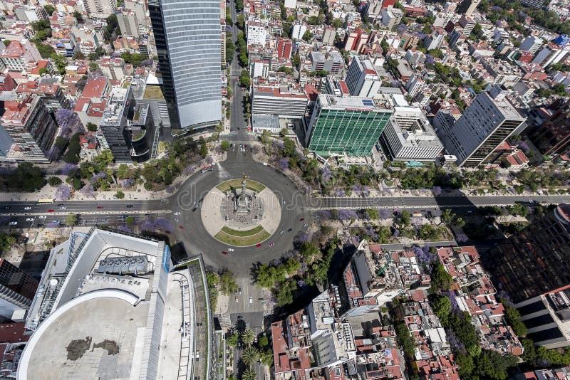 Luchtmening van reformastraat van Mexico-City royalty-vrije stock foto