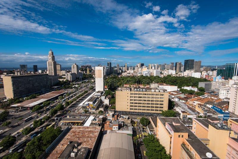 Luchtmening van Rio de Janeiro City Center royalty-vrije stock foto's