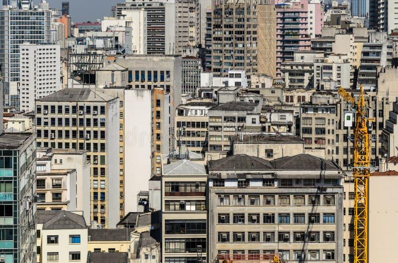 Luchtmening van Sao Paulo City de stad in stock fotografie