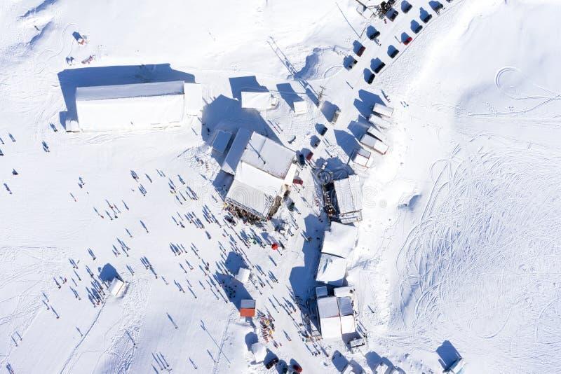 Luchtmening van Ski Resort Falakro, in Griekenland stock afbeeldingen
