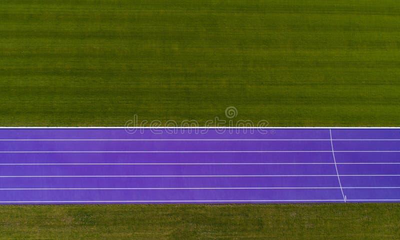 Luchtmening van sportspoor stock afbeeldingen