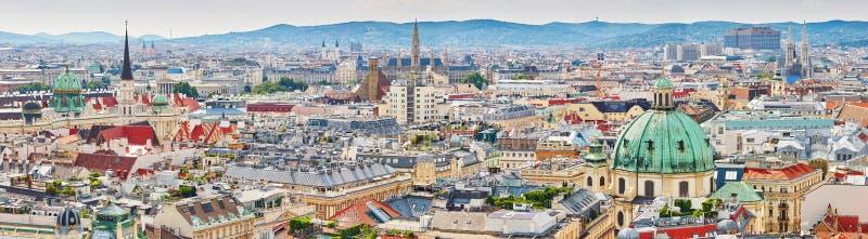 Luchtmening van stadscentrum van Wenen stock fotografie