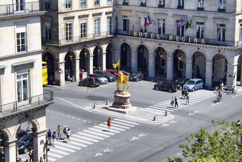 Luchtmening van standbeeld Jeanne D'Arc stock afbeeldingen