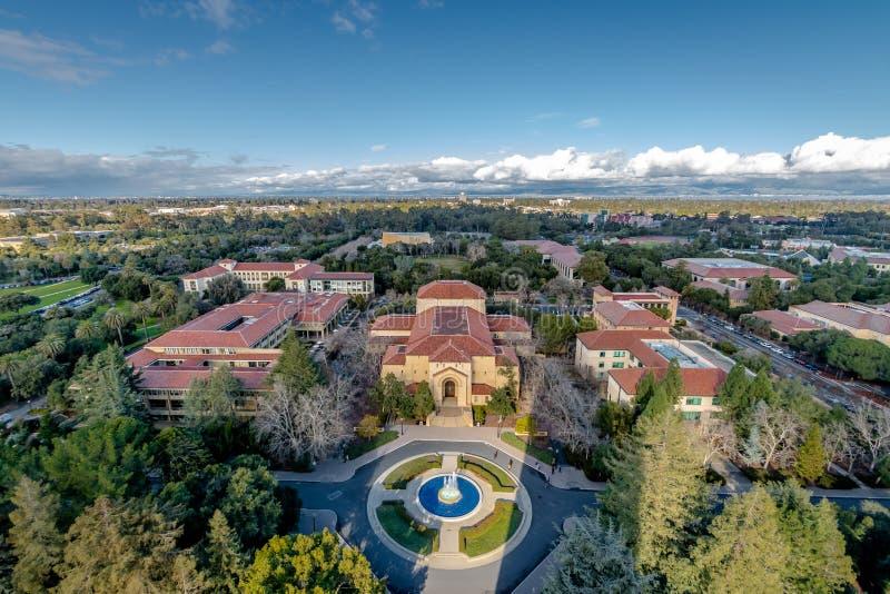 Luchtmening van Stanford University Campus - Palo Alto, Californië, de V.S. royalty-vrije stock foto's