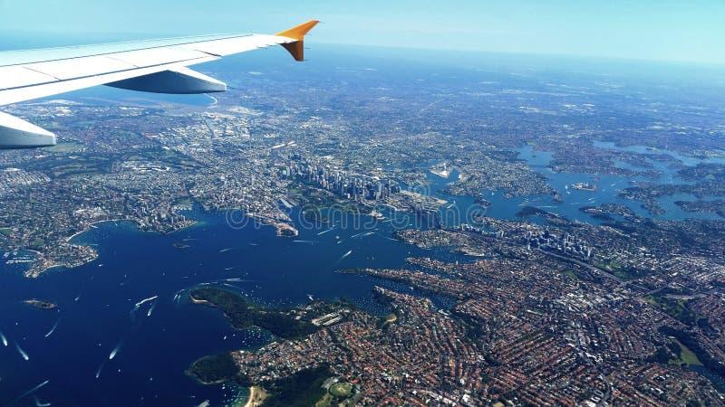 Luchtmening van Sydney, Australi? stock foto's