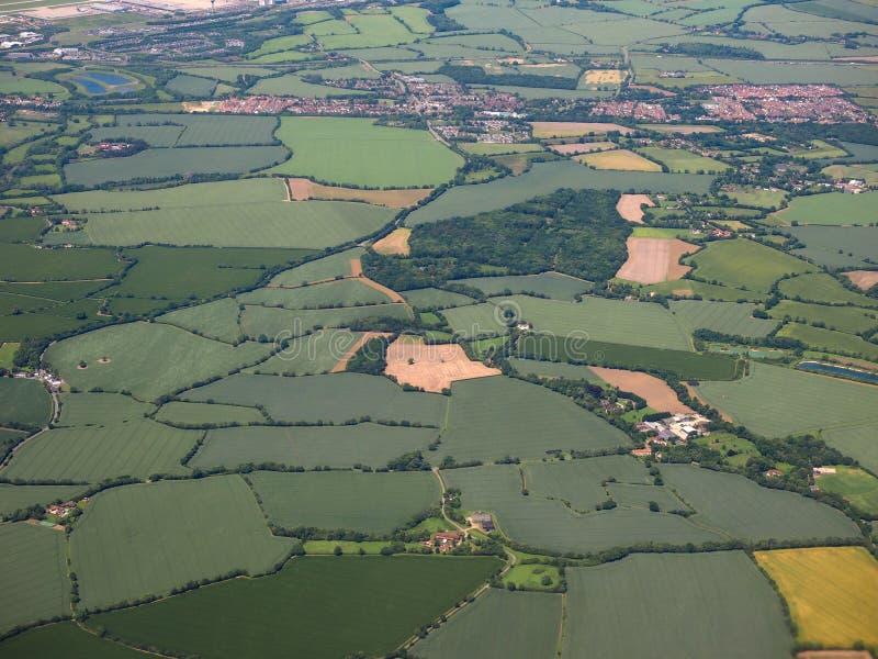 Luchtmening van Takeley stock fotografie