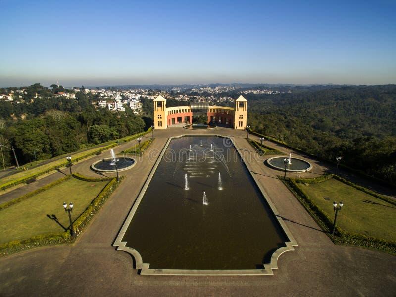 Luchtmening van Tangua-Park CURITIBA, PARANA/BRAZIL Juli 2017 stock afbeeldingen