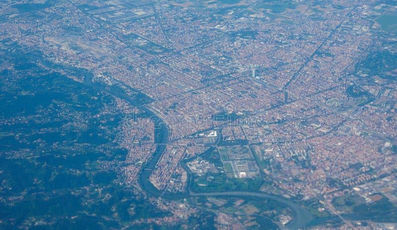 Luchtmening van Turijn stock foto