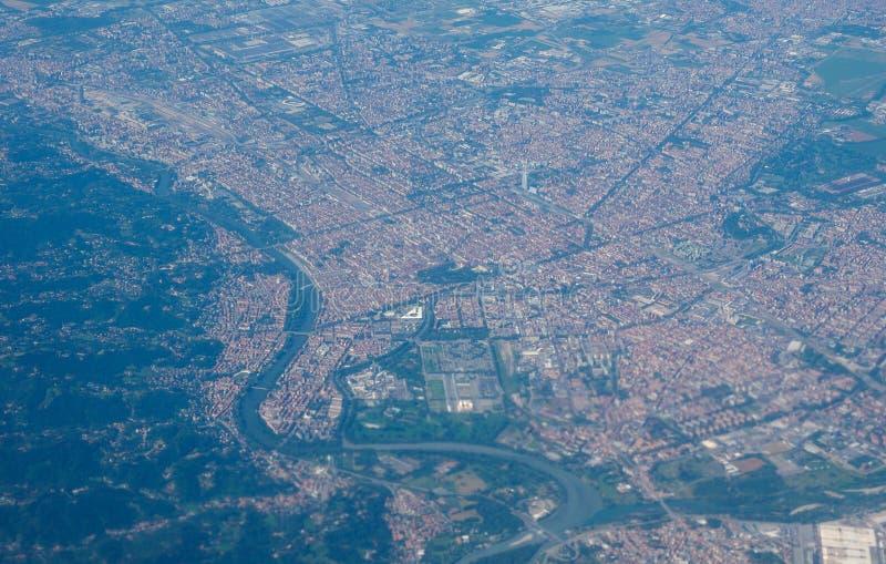Luchtmening van Turijn royalty-vrije stock foto's