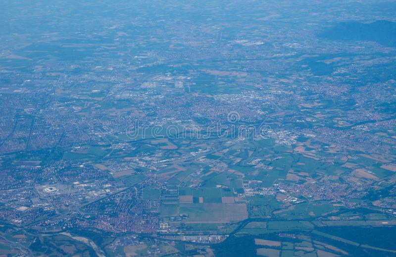 Luchtmening van Turijn stock foto's