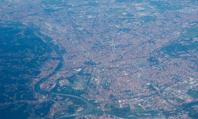 Luchtmening van Turijn royalty-vrije stock afbeeldingen