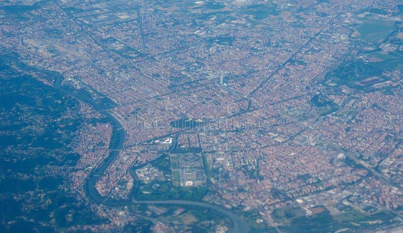 Luchtmening van Turijn royalty-vrije stock foto