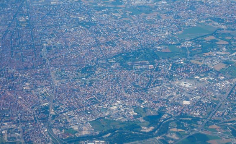 Luchtmening van Turijn stock afbeelding