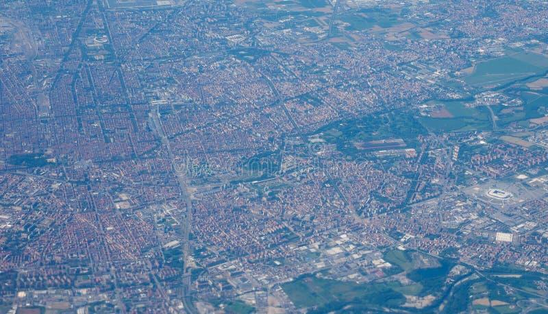 Luchtmening van Turijn royalty-vrije stock afbeelding