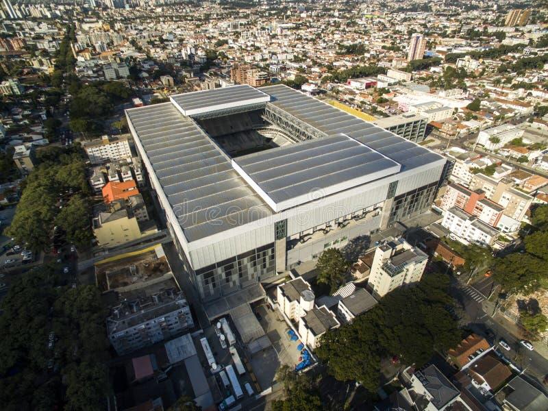 Luchtmening van voetbalstadion van de paranaense atletische club royalty-vrije stock foto's