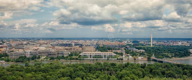 Luchtmening van Washington DC stock afbeelding