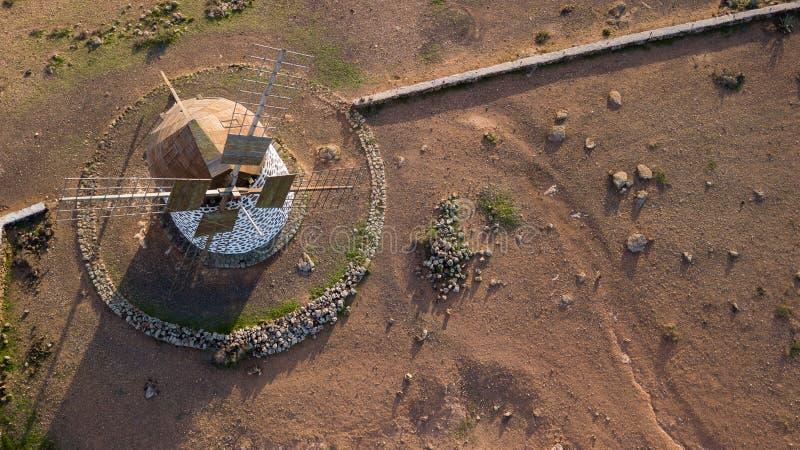 Luchtmening van windmolen royalty-vrije stock afbeeldingen
