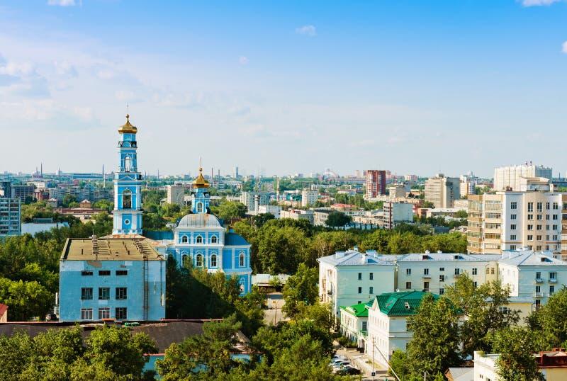 Luchtmening van Yekaterinburg stock afbeeldingen