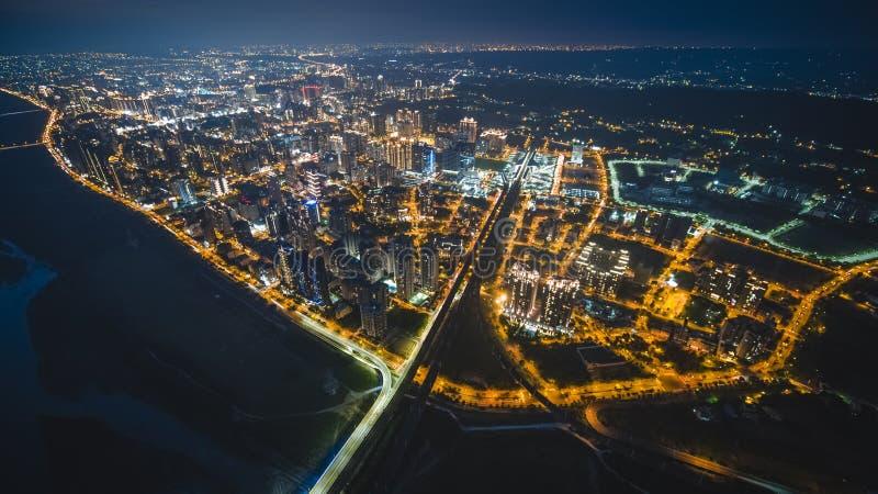 Luchtmening van Zhubei-Stad stock afbeeldingen