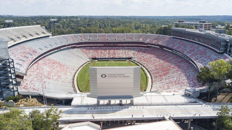 Luchtmeningen van Sanford Stadium royalty-vrije stock foto