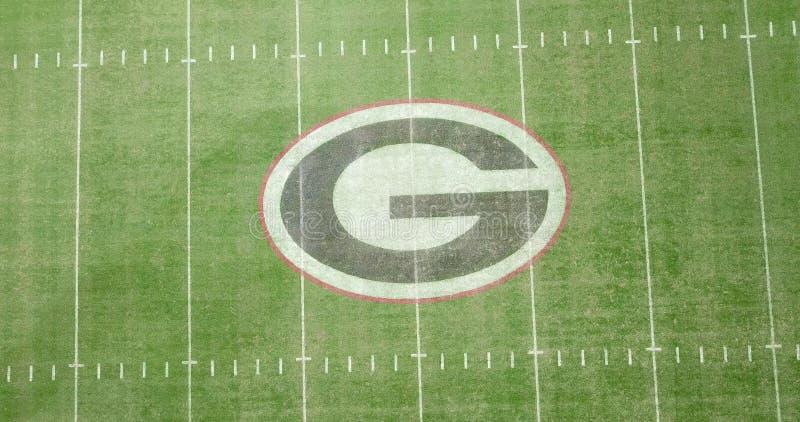 Luchtmeningen van Sanford Stadium stock afbeeldingen