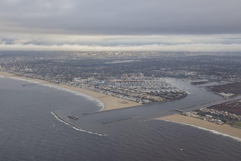 Luchtmeningscityscape van Los Angeles stock afbeelding