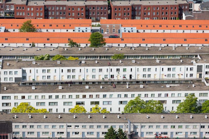 Luchtmeningswoonwijk Den Haag, Nederland royalty-vrije stock foto's