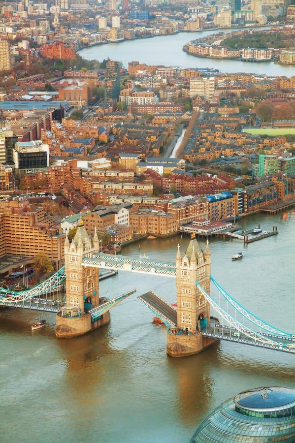 Luchtoverzicht van de stad van Londen stock foto's