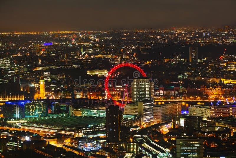 Luchtoverzicht van Londen stock afbeeldingen