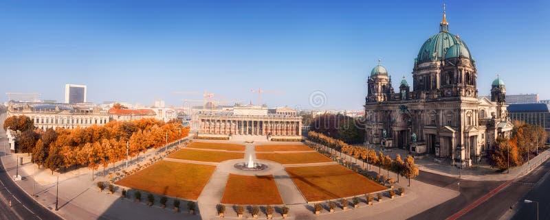 Luchtpanorama van Centraal Berlijn royalty-vrije stock fotografie