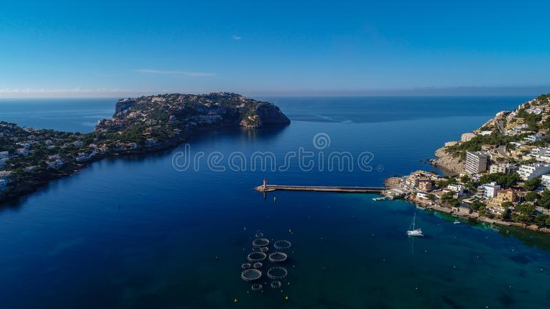 Luchtpanorama van de haveningang royalty-vrije stock foto's