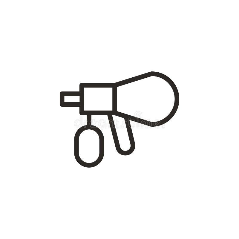 Luchtpenseel, reparatiepictogram Element van ontwerphulpmiddel voor mobiele concept en webtoepassingen Dun lijnpictogram voor web royalty-vrije illustratie