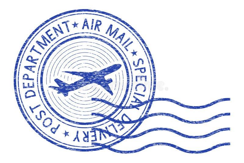 Luchtpost om poststempel met golven stock illustratie