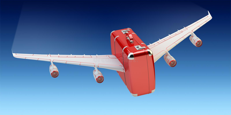 Luchtreis, vakantiereis en reisconcept vector illustratie
