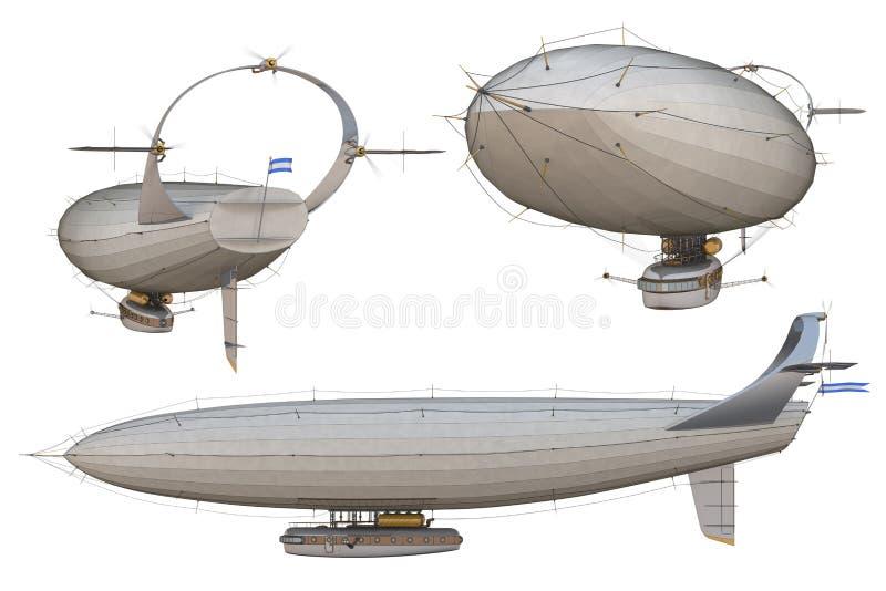 Luchtschip vector illustratie