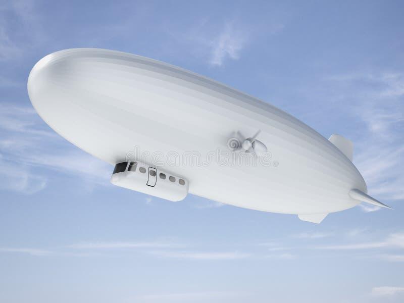 Luchtschip in hemel stock illustratie