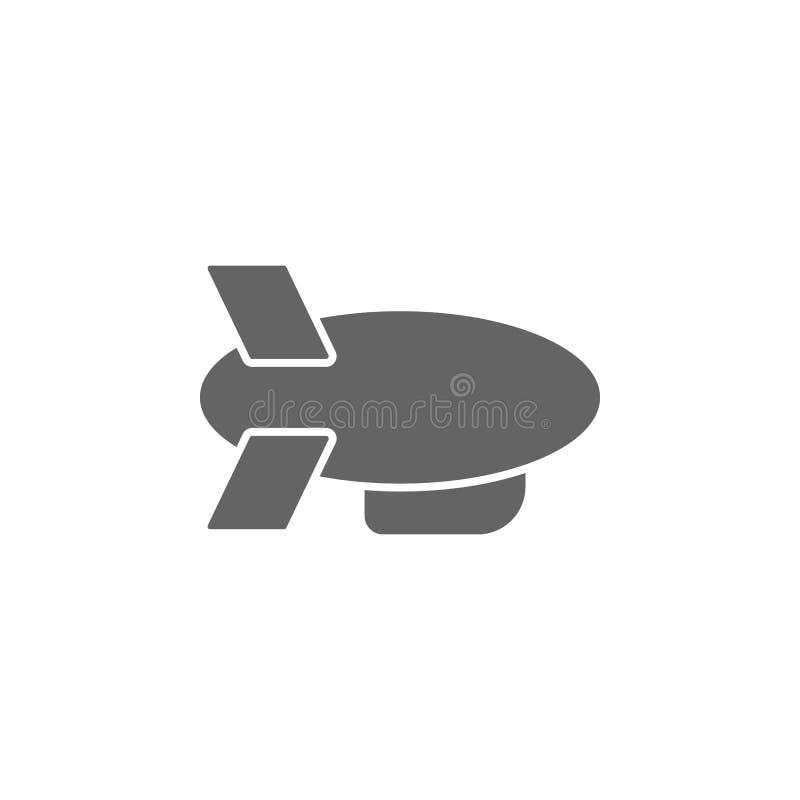 Luchtschip, vervoer, zeppelinpictogram Element van eenvoudig vervoerpictogram Grafisch het ontwerppictogram van de premiekwalitei vector illustratie