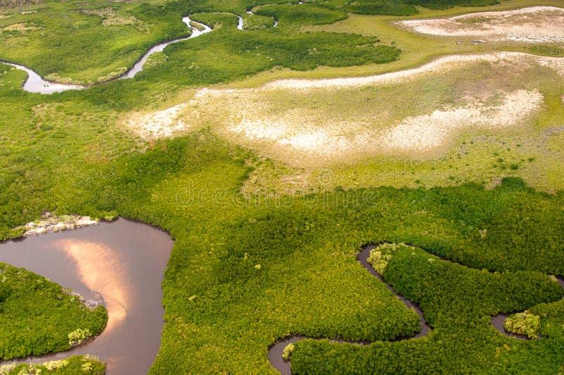 Luchtschot, aarde van hierboven, Australië royalty-vrije stock foto's
