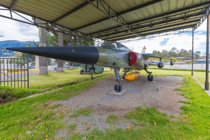 Luchtspiegeling F 1 ruimtevaart het museumquito Ecuador van Frankrijk royalty-vrije stock foto's