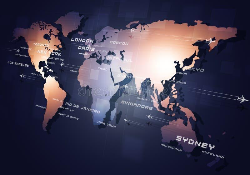 Luchtvaart Bedrijfsachtergrond vector illustratie