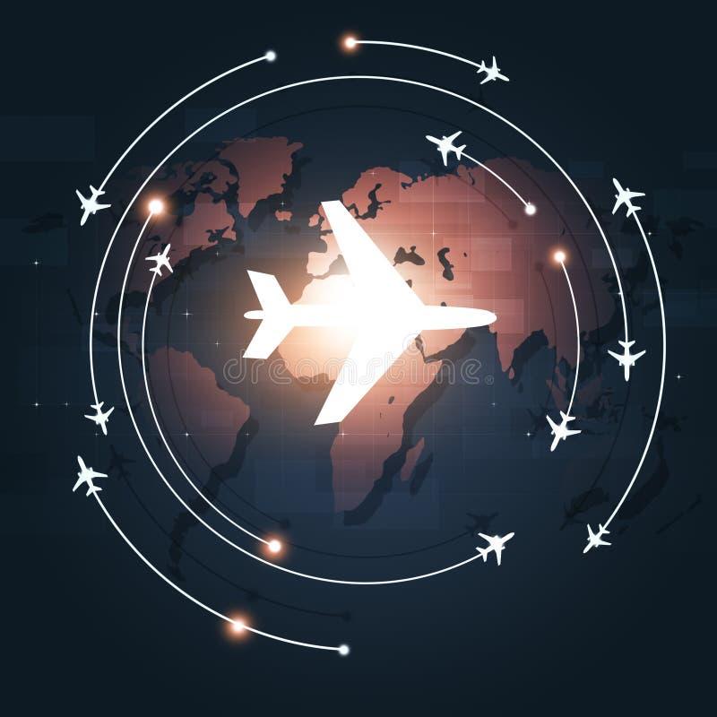 Luchtvaart Bedrijfsachtergrond stock illustratie