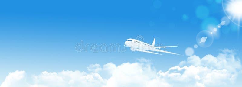 Luchtvaart Blauwe Banner royalty-vrije stock afbeeldingen