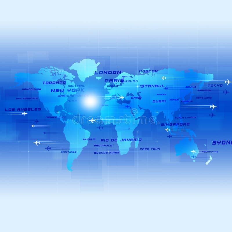 Luchtvaart Blauwe Bedrijfsachtergrond stock illustratie