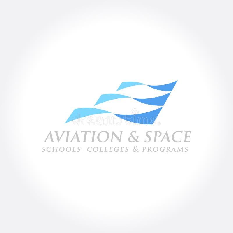 Luchtvaart en Luchtvaartlijnen Verwant Bedrijfssymbool royalty-vrije illustratie