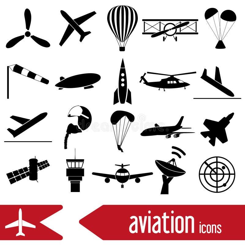 Luchtvaart grote reeks eenvoudige pictogrammen eps10 vector illustratie